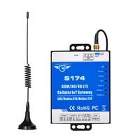 Modbus tcp para mqtt conversor sem fio 4g lte gateway inteligente monitoramento de tráfego da grade com 2 rs485 duplo slot para cartão sim|Suporte de alarme| |  -