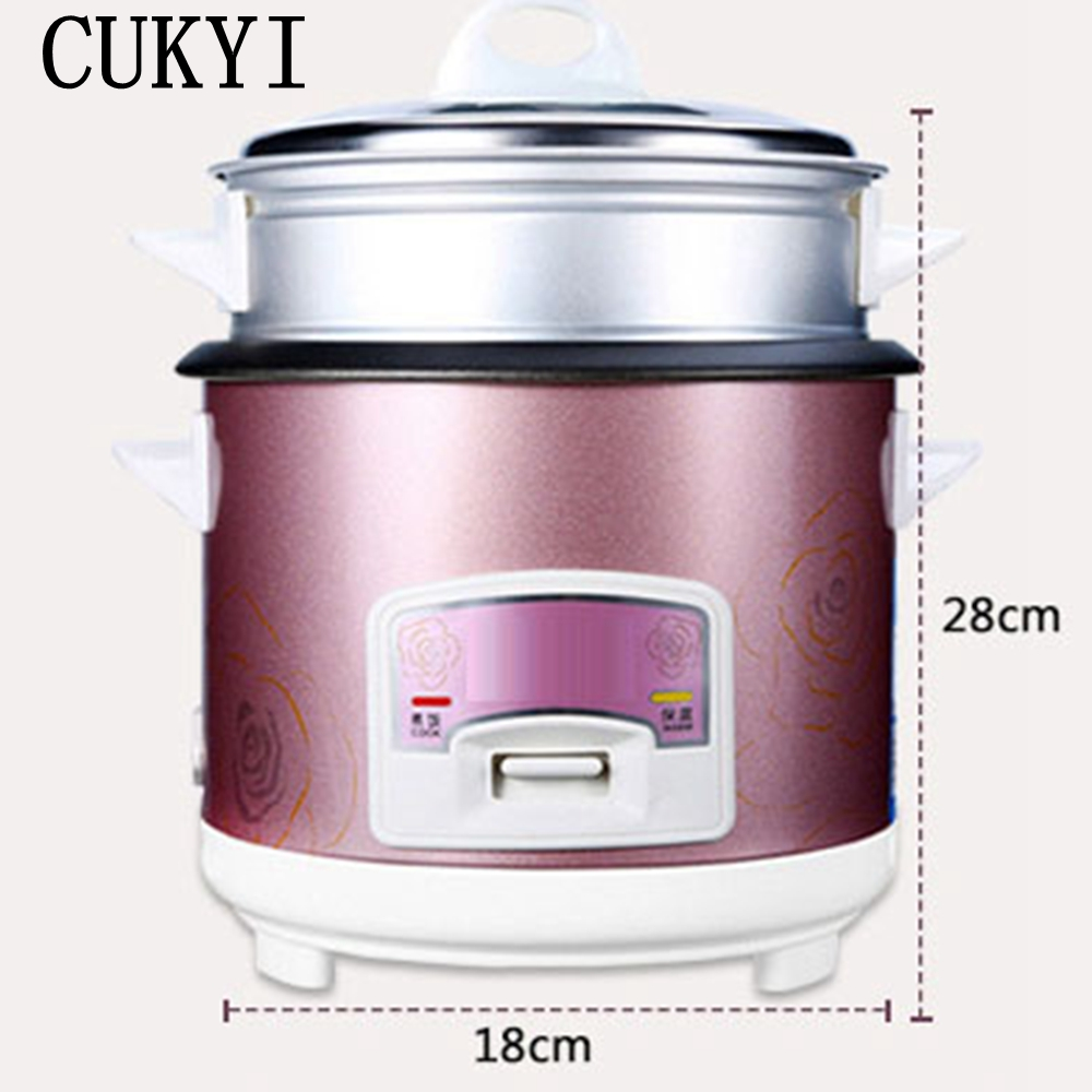 CUKYI mini rice cooker lunch box 1.5L capacity 220V input suited for 1-2 people can stew soup heating lunch kitchen cooker рисоварка cooker lunch box capacity 875ml 125ml capacity plate