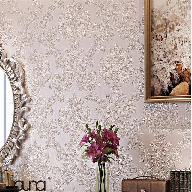 Ordinaire Beibehang Ontinental Damas Papier Peint Romantique Salle De Mariage Chambre  Pleine Boutique Salon Fond Papier Peint