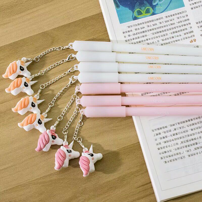 2pcs Unicorn Party Favors Pens Kawaii Plush Pendant Pen For Kids Birthday Wedding Favors Gifts to Guests Baby Shower Decorations in Party Favors from Home Garden