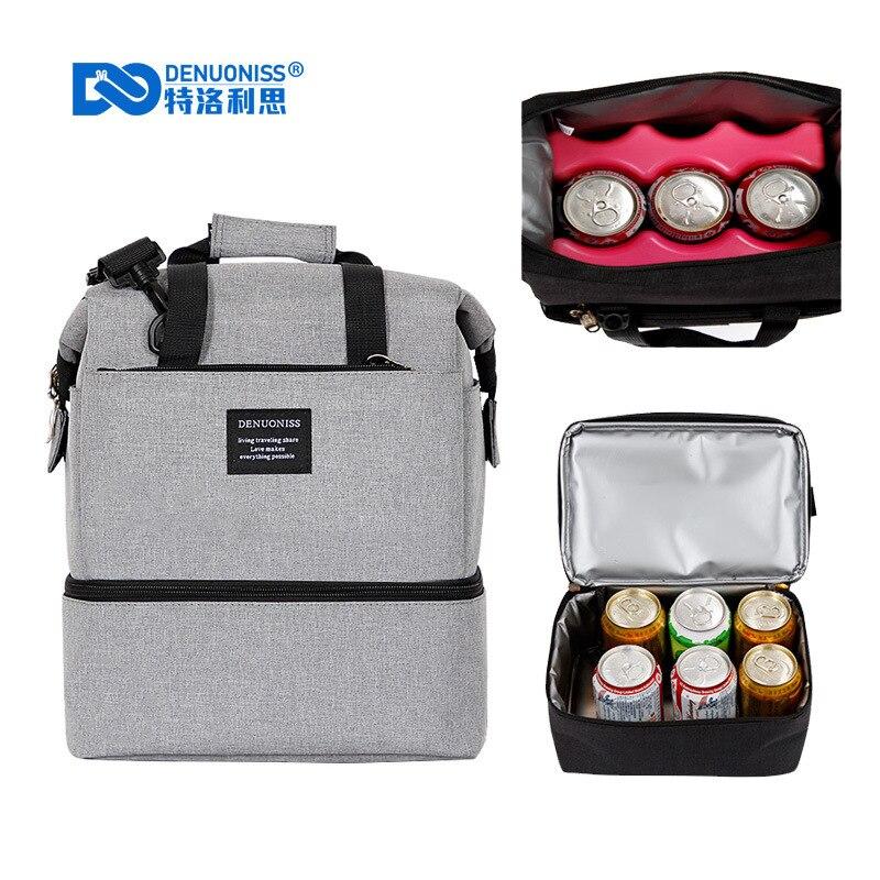 Oxford Wasserdichte Picknick Kühltasche thermo Lunch-Box Isoliert Rucksack Eis Pack Frische Träger Thermische Schulter/Handtaschen A149