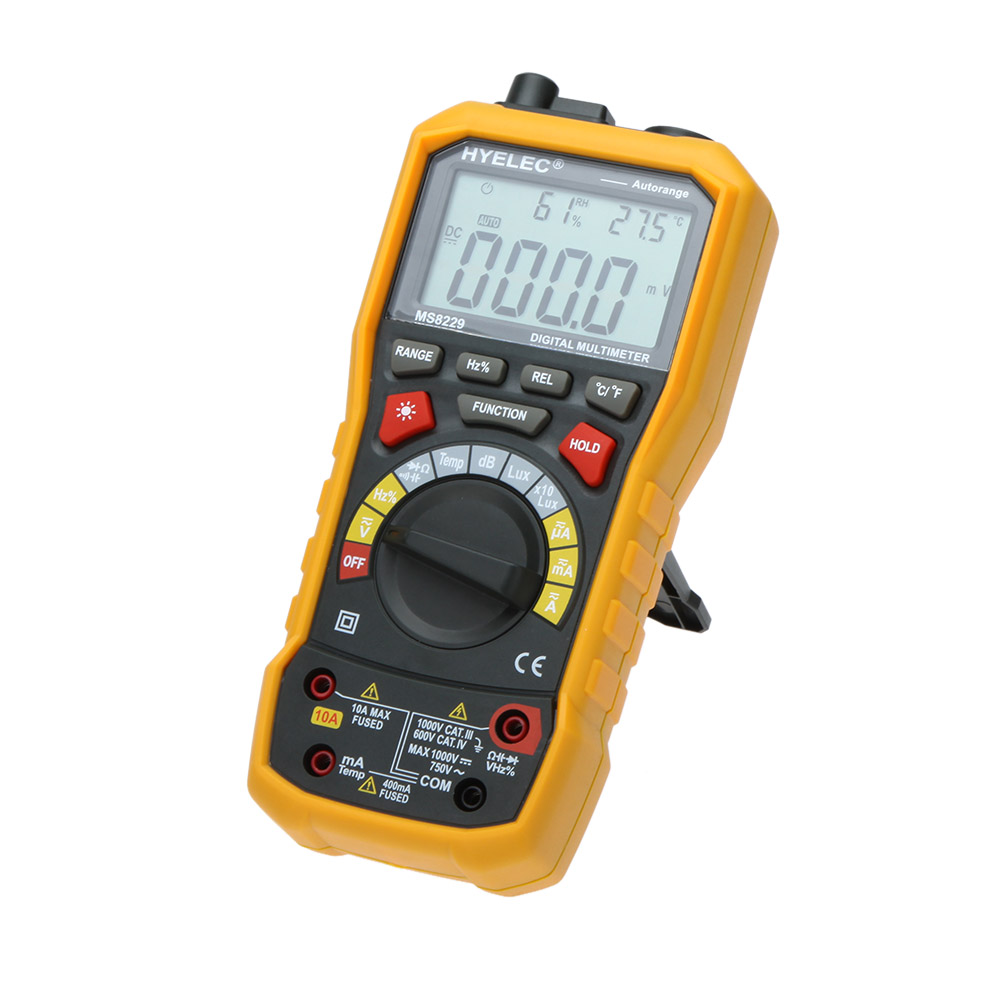 Multifunctional Digital Multimeter 5 in 1 Auto Range DMM with Noise Temperature Luminance Test Function Multitester цена