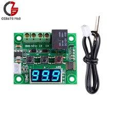 Dc 12v w1209 termostato digital controlador de temperatura interior termômetro incubadora cerveja termoregualtor azul display led