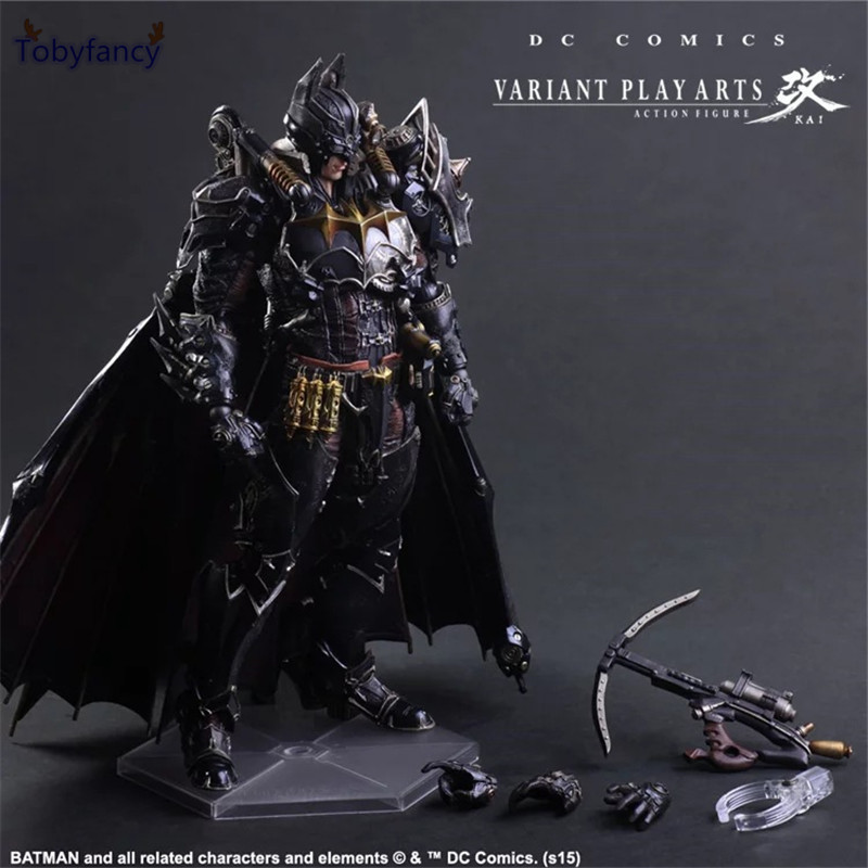 Tobyfancy Batman Action Figures Play Arts Kai Steampunk PVC Toys 270mm Anime Movie Model Steampunk Bat Man Playarts Kai tobyfancy play arts kai action figures batman dawn of justice pvc toys 270mm anime movie model pa kai heavily armored bat man