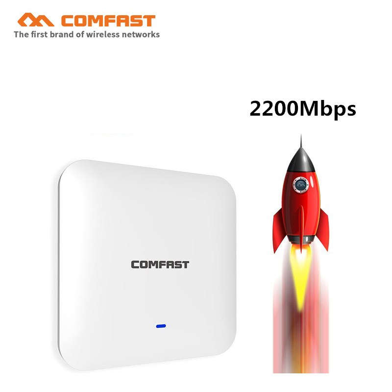 48V POE RJ45 Gigabit 2200Mbps high power wireless ceiling AP wifi router 500mW high gain indoor AP router wireless access point 1200mbps 2 4g 5 8g dual band 802 11ac indoor ceiling mount access point wifi repeater router 48v poe ap 500mw gigabit management