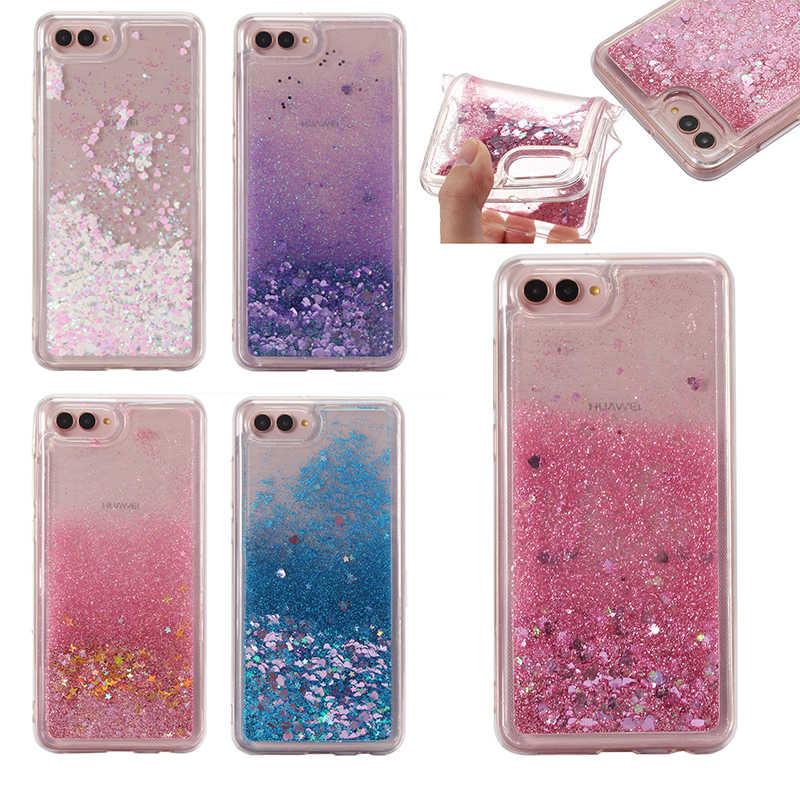 Love Heart Liquid Quicksand Soft Case for Huawei P9 P10 30 Plus P20 Pro P8 Lite 2017 Mate 9 10 Nova 3 3i 4 Honor 8X 7X 8C Cases