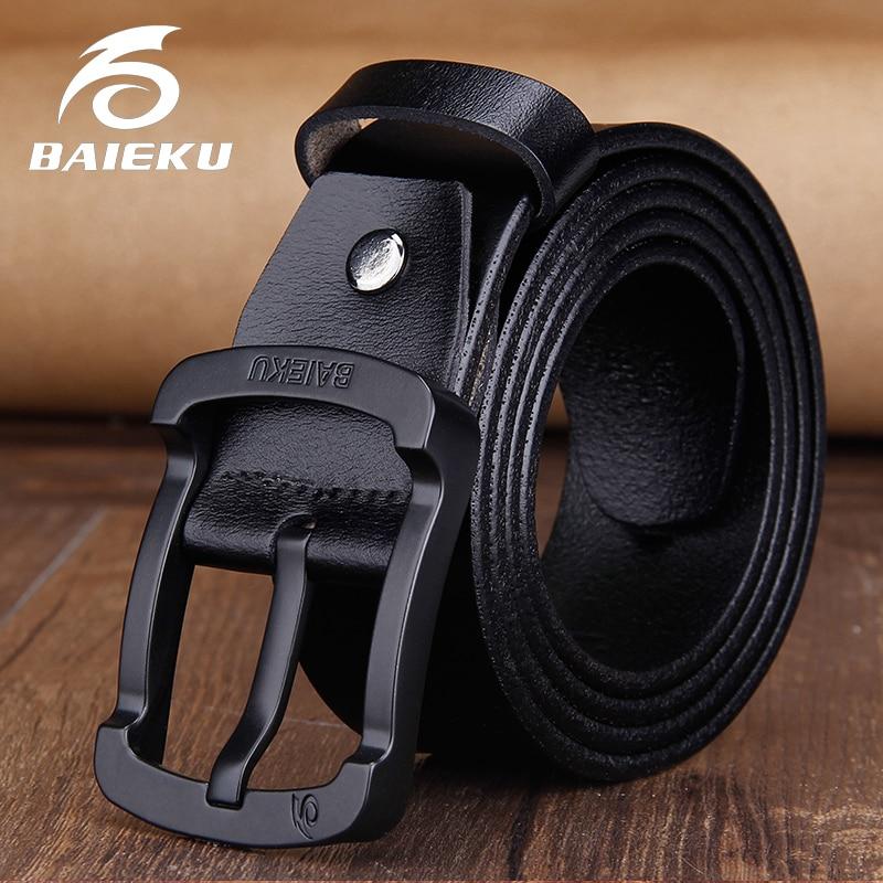 BAIEKU Fashion pin buckle men's leather
