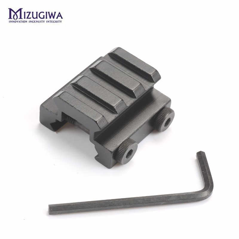 "1/2 ""3-Slot 20 Mm Lage Riser Wever Picatinny Rail Rifle Scope Mount Base Weaver Airsoft Luchtbuks Caza jacht Accessoires"