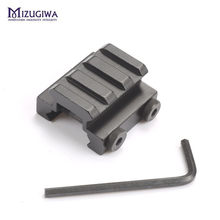 "1/2"" 3-Slot 20mm Low Riser Weaver Picatinny Rail Rifle Scope Mount Base Weaver Airsoft Airgun Caza Hunting Accessories(China)"
