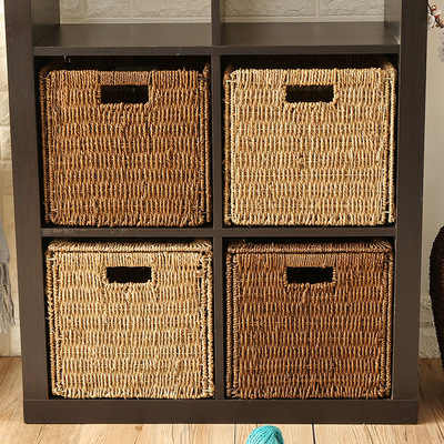 woven seagrass baskets with handles decorative storage boxes.htm crafts creative handmade straw folding storage basket rattan  crafts creative handmade straw folding