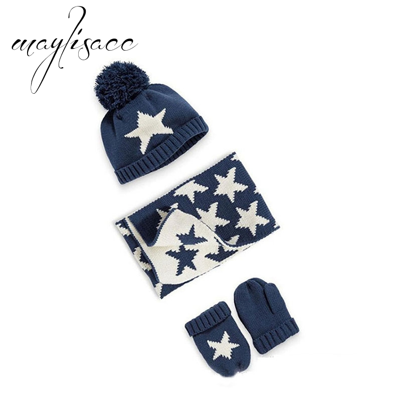 Aggressiv Maylisacc Baby Winter Warme Gestrickte Hut Handschuhe Mit Schals 2018 Für Mädchen Jungen Outdoor Sport Einstellbare Schals Mit Hut Set