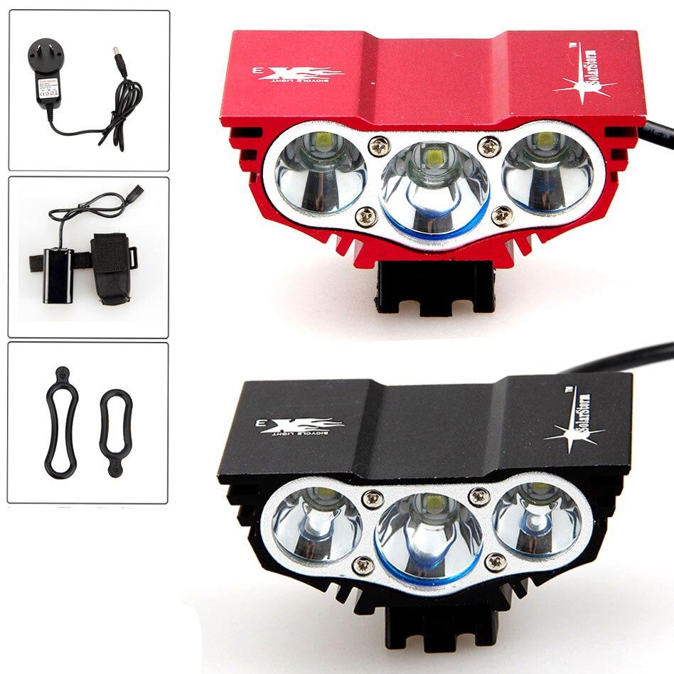 Bright 6000 Lumen 3x XM-L U2 LED Head Front Bicycle Bike HeadLight Lamp Light Headlamp 6400mAh Battery with Charger headlamp polishing paste kit diy headlight restoration for car head lamp lense deep clean compuesto pulidor uv protective liquid