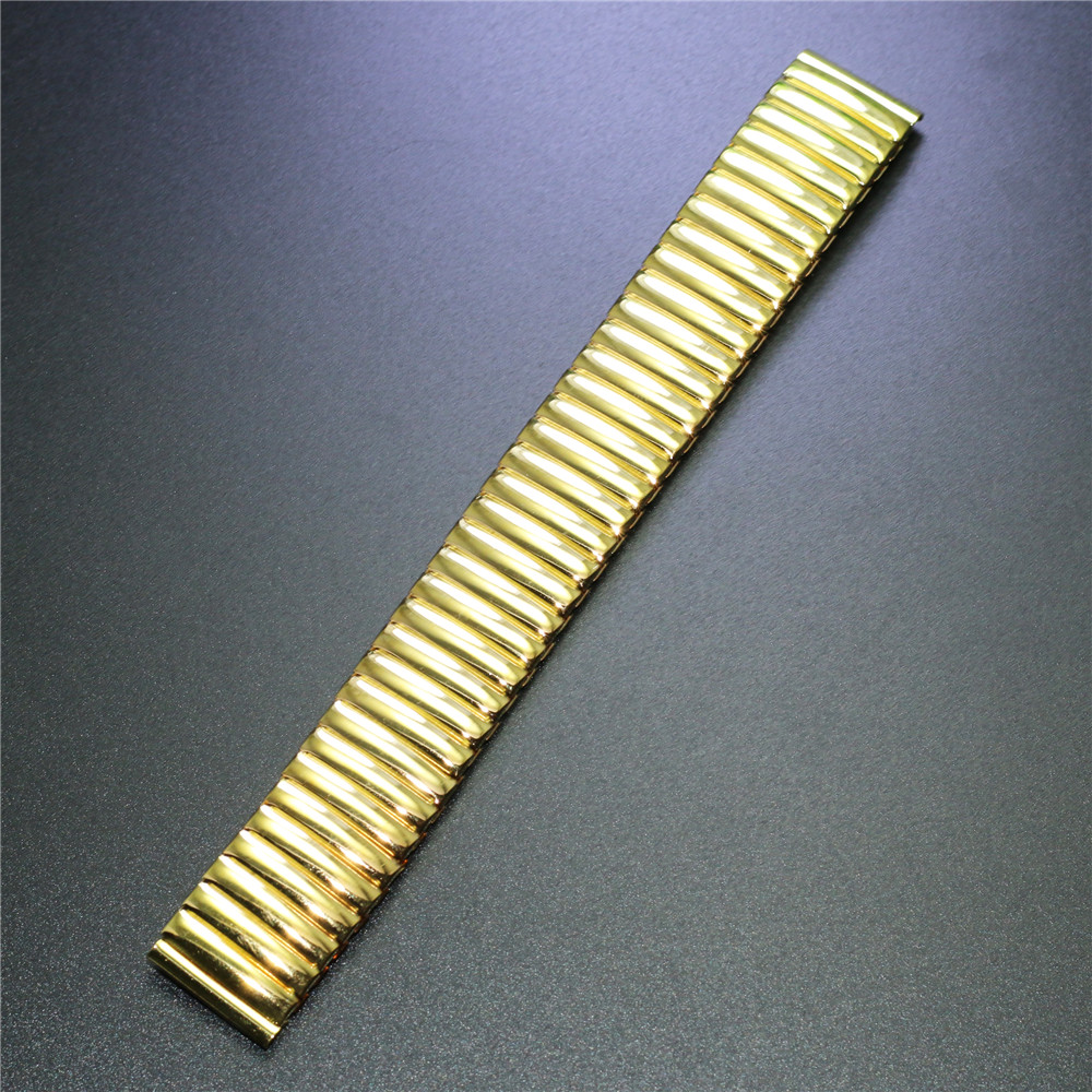 Way Deng - Women Men Golden Stainless Steel Flexible Stretch Watchband Watch Band Strap Bracelet Cuff Bangle 18mm 20 mm - Y095 все цены