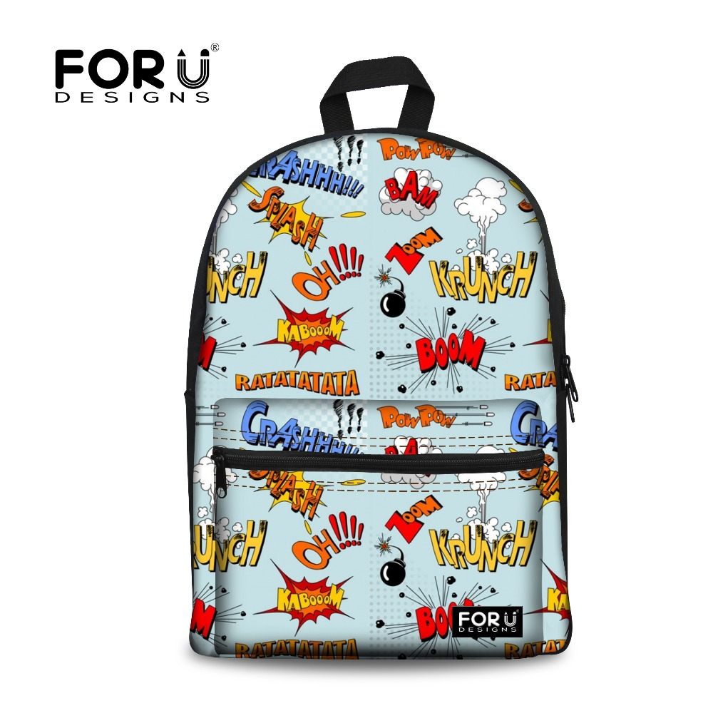 FORUDESIGNS Tumblr Graffiti Printing School Backpack for Teenager Women Canvas Backpack Girls Casual Travel Rucksack Mochila forudesigns children backpack anime funny printing backpacks for teenager girls boys travel laptop bags school bagpack mochila