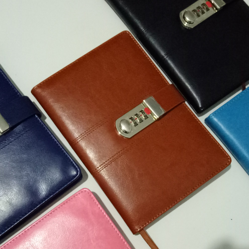New Leather notebook with Lock code Business Personal Diary thick Notepad Stationery Customized Logo office school supplies gift first layer leather travel notepad retro leather notebook loose leaf diary with lock customized logo business gifts n131