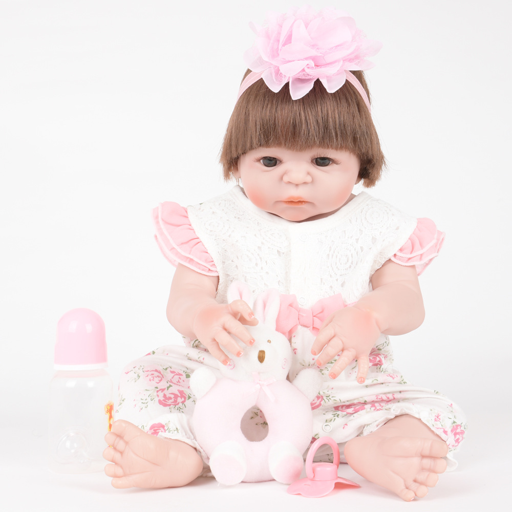 55cm Soft Full Silicone Reborn Baby Newborn Princess Girl Dolls for Kids Toy Christmas Birthday Xmas New Year Gift недорого