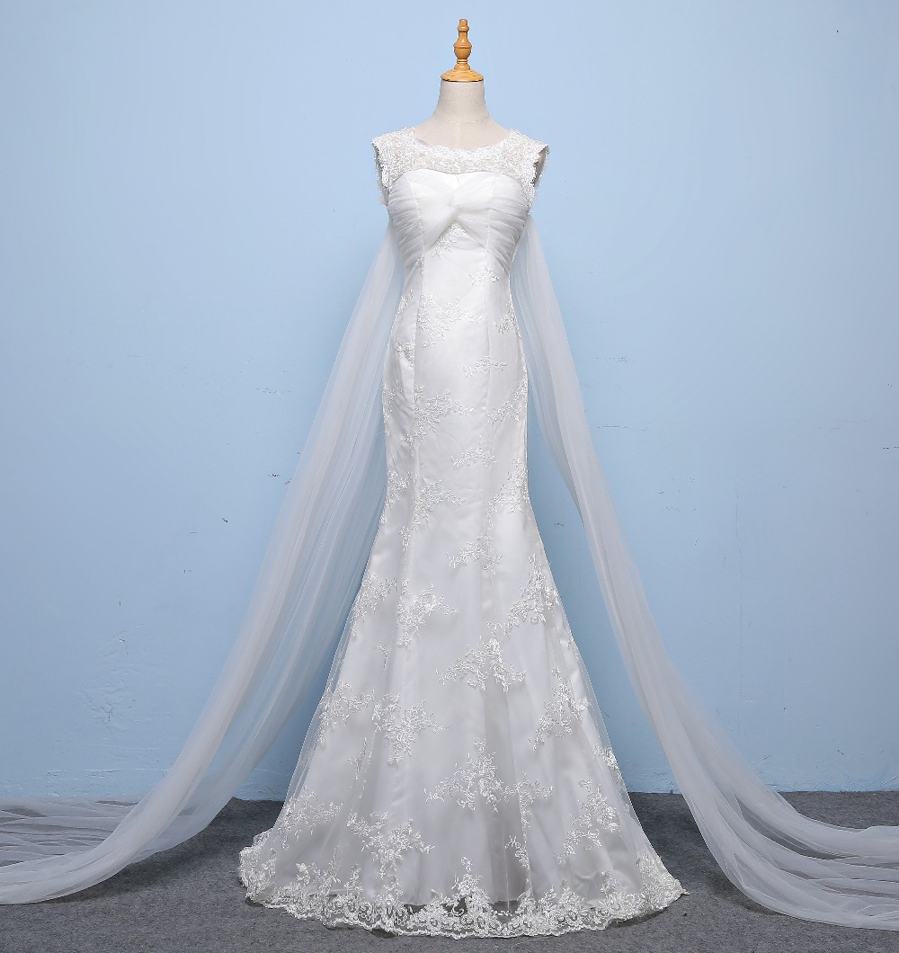 Elegant  V neck  Skinny Exquisite Lace Mermaid Personality Long Trailing Wedding Gown 129-in Wedding Dresses from Weddings & Events    1