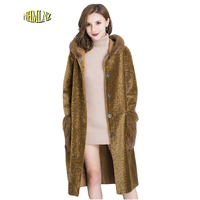 Winter Hooded High Quality Women Fur Coat 2017 New Fashion Comfortable Both Sides To Wear Mink