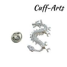 Broche de solapa para hombres pines y broches dragón chino Pin para solapa con insignia joyería de Broche Pin de la solapa de Cuffarts P10171