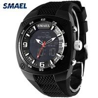 SMAEL Sports Watches Men Fashion Quartz Military Watch Man 50M Waterproof Digital Dual Time Wristwatches Male