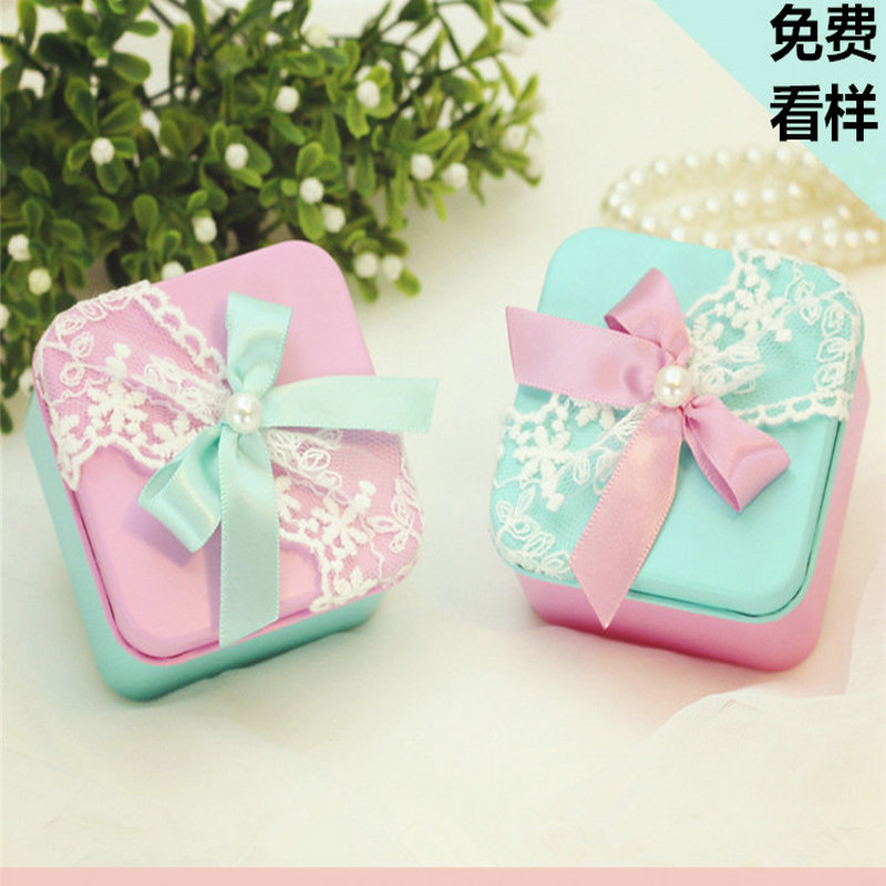 Multi Size Color Wedding Favor Box With Lace And Ribbon