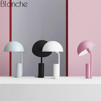 Nordic гриб настольные лампы светодио дный настольная лампа красочные металлическая подставка огни для Гостиная Спальня исследование чтение ...