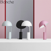 Nordic Mushroom Table Lamps Led Desk Lamp Colorful Metal Stand Lights for Living Room Bedroom Study Reading Light Fixtures Decor
