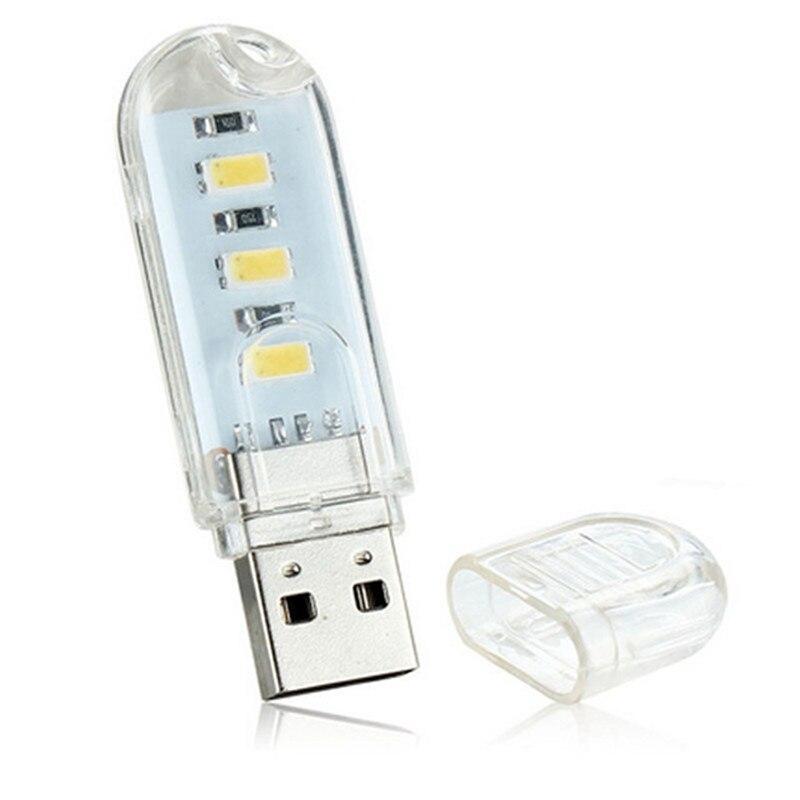 Flexible Portable USB 5V 2W LED Lamp For Computer Notebook Mini USB Table Lights Protect Eye Lights Gadget Novely Light