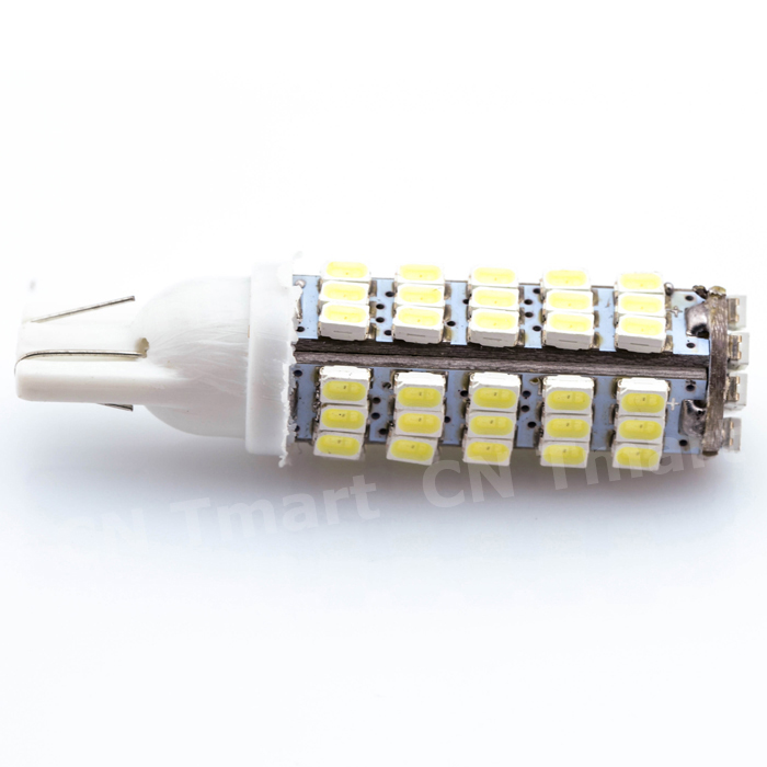 Super Bright T10 68LED 1206 68 SMD LED Car 68smd 3020 W5W 194 927 168 Side Wedge Lamp Marker Bulb License plate lights DC12V 4pcs super bright t10 w5w 194 168 2825 6 smd 3030 white led canbus error free bulbs for car license plate lights white 12v