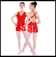 Free Shipping 5 Pieces Lot Adult Tank Unitards Ballet Leotard Dance Costumes Gymnastic Leotards Cotton Lycra