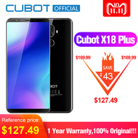 Cubot X18 Plus Android 18:9 8,0 FHD + 4G B 6 4G B 5,99 дюймов MT6750T восьмиядерный смартфон 20MP + 2MP задние камеры 4G мАч 4000 Celular
