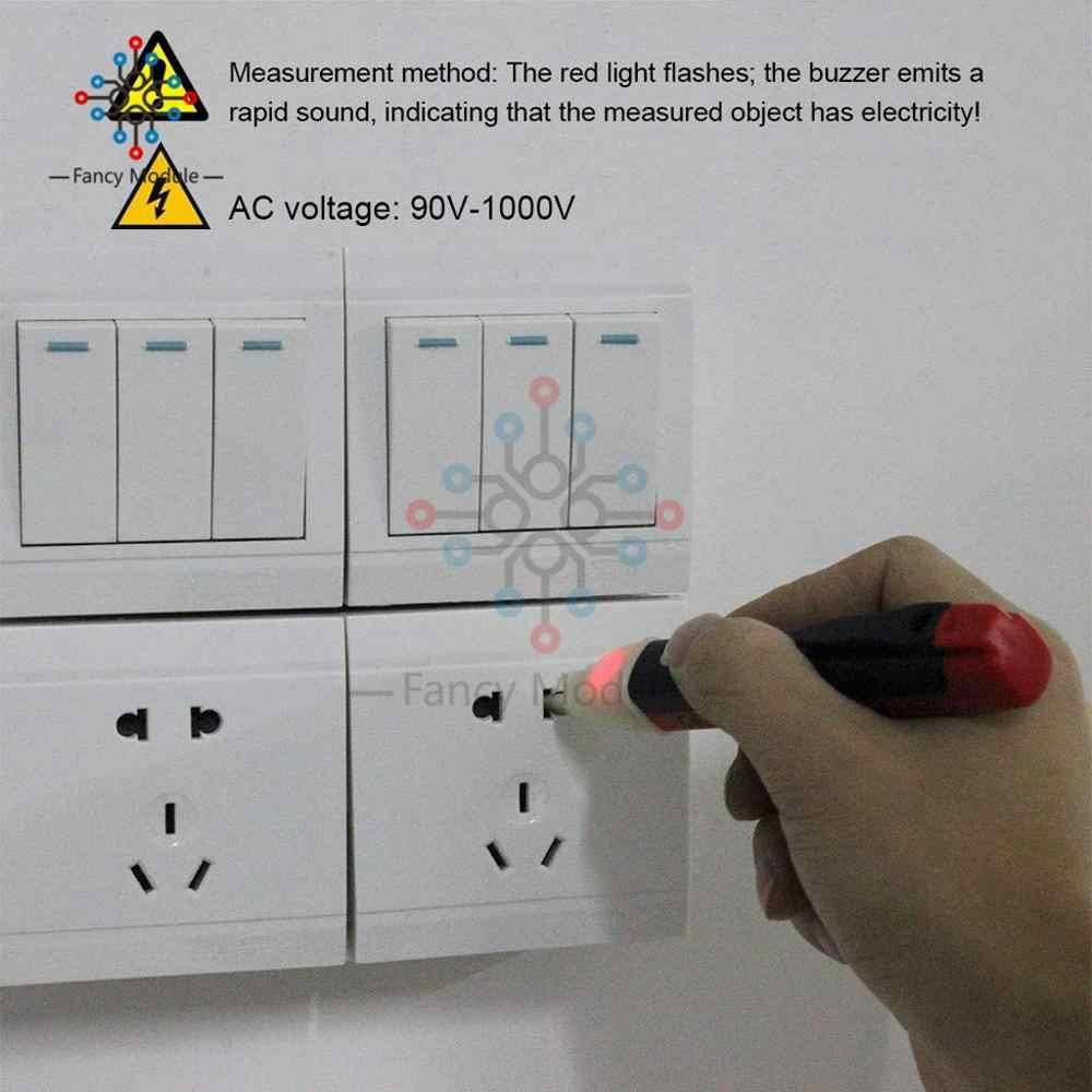 Non-Contact เหนี่ยวนำทดสอบดินสอ AC110V 220V โวลต์มิเตอร์แรงดันไฟฟ้า Probe Volt Meter ไฟแสดงสถานะ POWER เครื่องตรวจจับเครื่องทดสอบซ็อกเก็ต