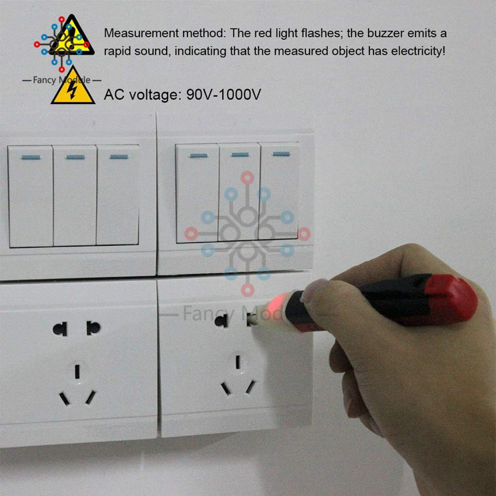 Non contact induction test pencil AC110V 220V Voltmeter Voltage Probe Volt Meter Electric Indicator Power Detector Non-contact induction test pencil AC110V 220V Voltmeter Voltage Probe Volt Meter Electric Indicator Power Detector Tester Socket