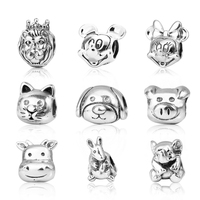 2017 Top Quality 100 S925 Sterling Silver Cute Animal Charms Fit Pandora Bracelets DIY Beads Original
