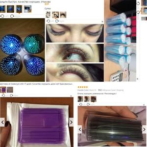 Image 5 - 100 Cái/túi Dùng Một Lần MicroBrush Lông Mi Nối Dài Cá Nhân Làn Mi Loại Bỏ Đầm Micro Bàn Chải Cho Cây Nối Mi Dụng Cụ