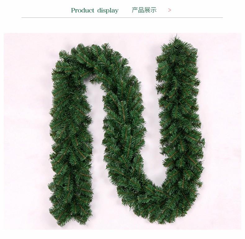2 7m christmas garland green christmas rattan christmas ornaments
