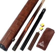 CUESOUL 57 18oz 1-Piece Handmade Snooker Cue with Aluminum Telescope Extension & Case With Chalk and Clean Towel