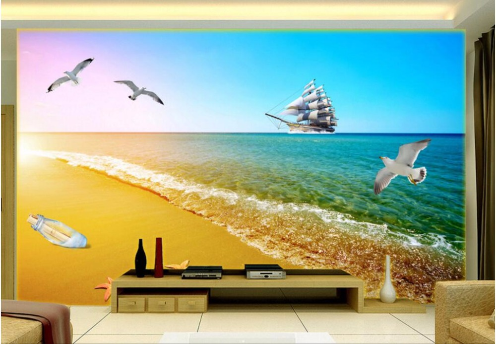 3d wall murals wallpaper for living room walls 3 d wallpaper Ocean sailing the sea gulls home decor Custom mural photo painting 3d ceiling murals wall paper picture star birds in trees painting decor photo 3d wall murals wallpaper for living room walls 3 d