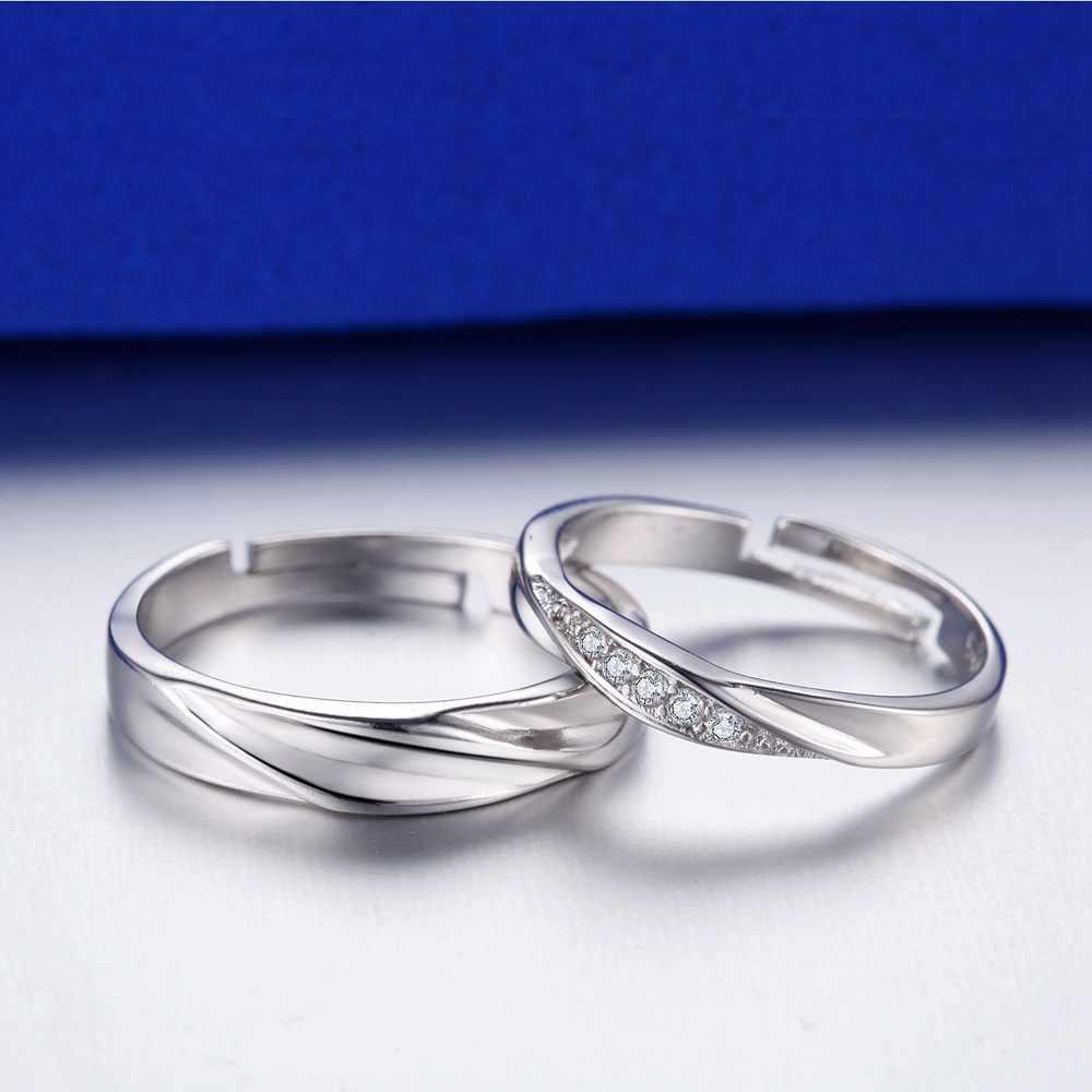 טבעת זירקון טבעת זוג תכשיטי אופנה בציפוי זהב 925 vashiria כתר קיסרי & טבעת מאהב צלב j646 רומנטי