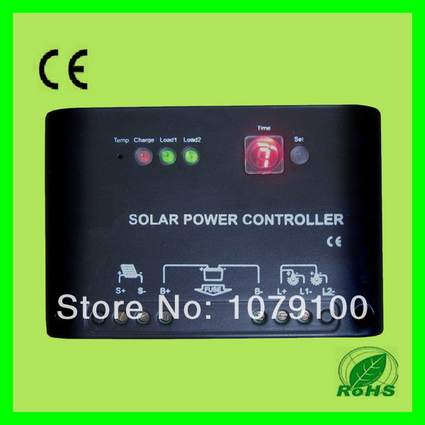 ФОТО CE&RoHS Certificate 24V Digital and LED 10a solar charge controller
