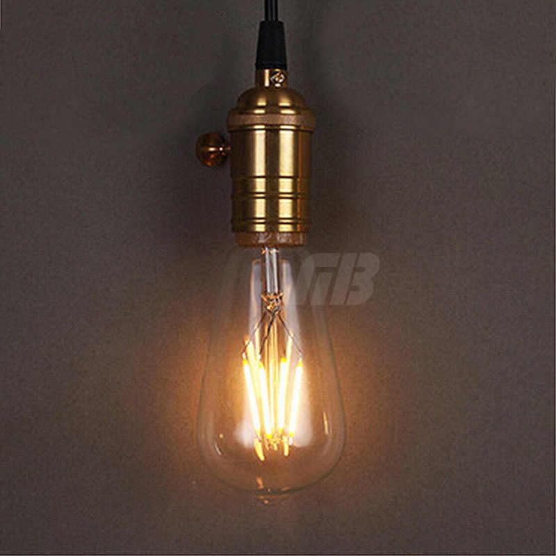 로프트 스타일 LED 필 라 멘 트 전구 ST64 E27 220V 디 밍이 가능한 4W 6W 8W 따뜻한 화이트 샹들리에 빛 Lampada Bombilla Ampoule 카페 숍