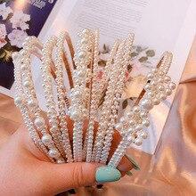 1pc Imitation Pearl Headbands Hair Band Girls Elegant Accessories Women Headband Wedding Party Bridal Jewelry Hoop