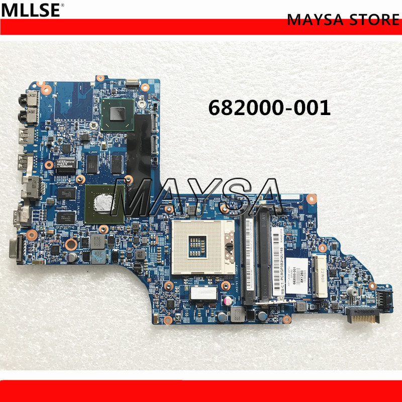 682000-001 Laptop Motherboard For HP DV7-7000 48.4ST10.031 Main Board HM77 DDR3 GT630M 1GB Video Card sheli laptop motherboard for hp pavilion dv6 7000 682169 001 48 4st10 021 ddr3 gt630m 1gb non integrated graphics card
