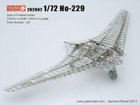 Jasmine Model 3D Metal Assembled Model Germany Horton ho 229 Empire Flying Wing 3d metal model ho scale