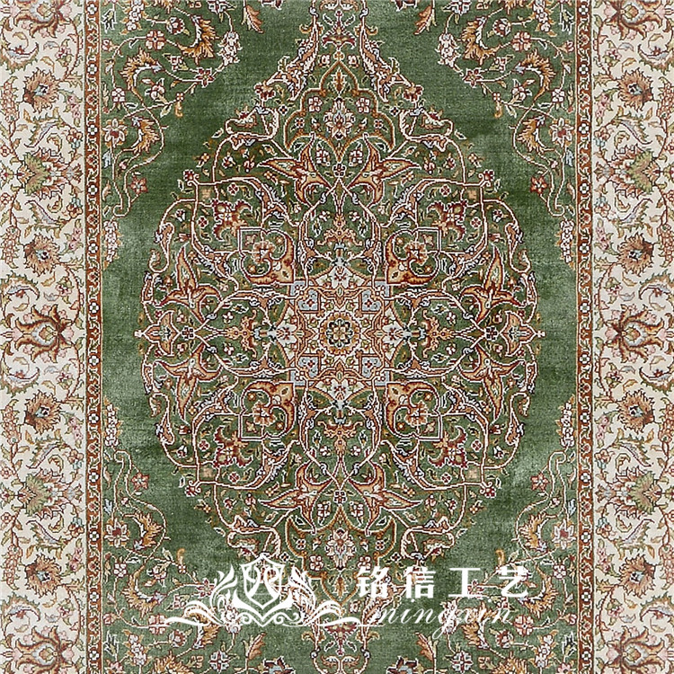2.5 'x10' à la main tissage Long tapis de soie à la main coureur tapis couloir décor - 5