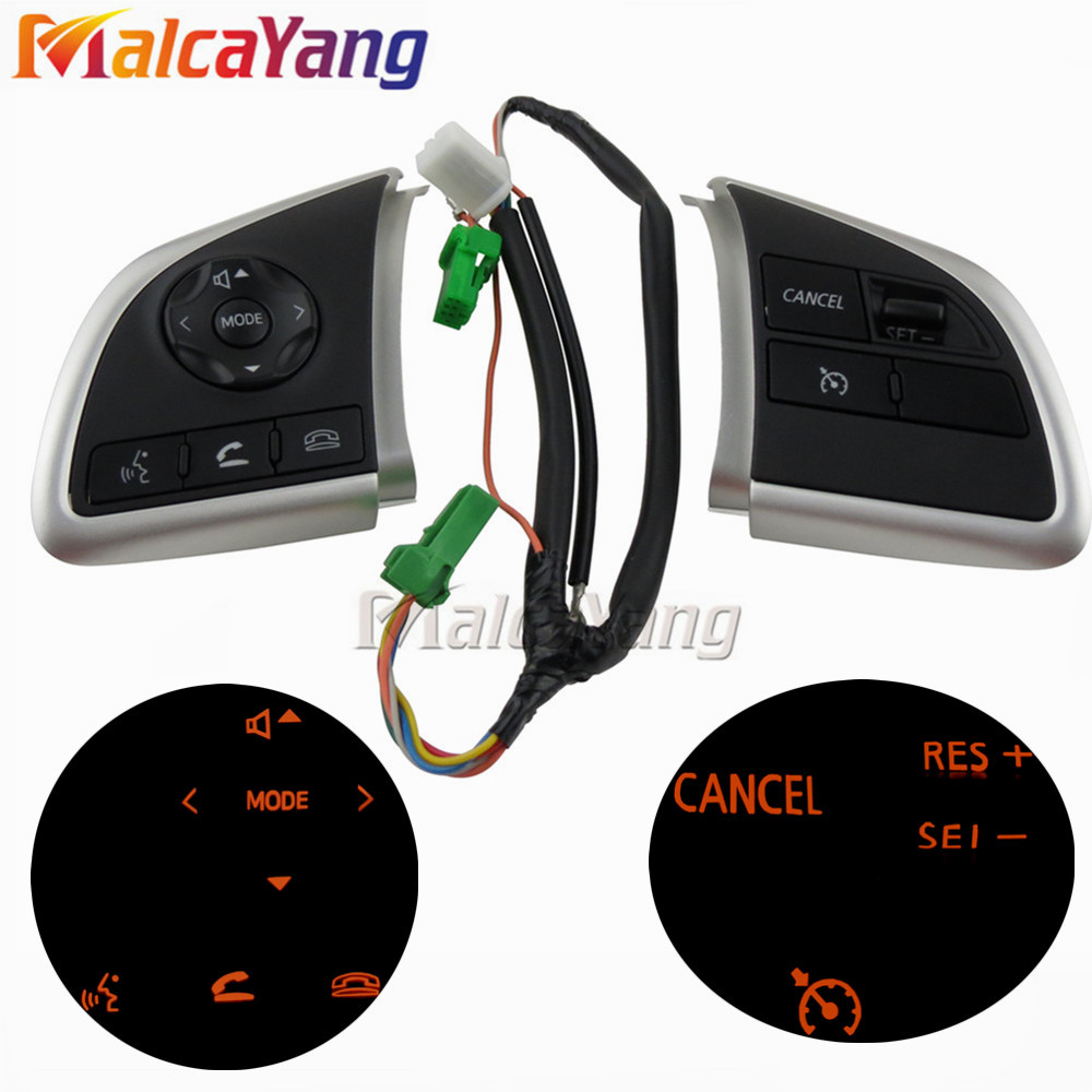 Image 2 - Phone Cruise Control steering wheel switch Auto Spare Parts steering wheel buttons For Mitsubishi Outlander 2013 2015 2016 2018-in Car Switches & Relays from Automobiles & Motorcycles