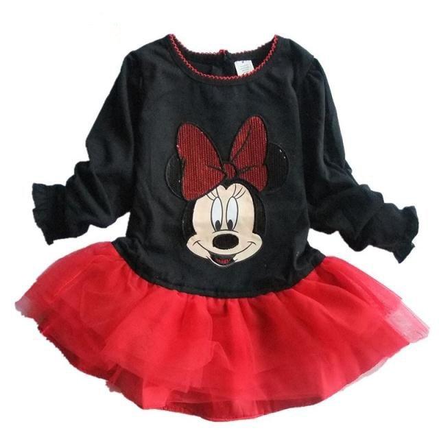 PROMOTION wholesale 2012 branded dress girls long sleeve Minnie Mouse princess dress TUTU petticoat dress free shipping
