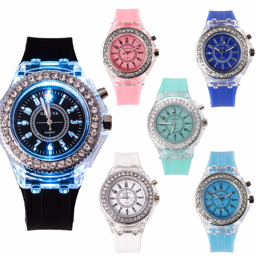 Colorful Unisex Sport Watche Quartz Wristwatch With Backlight relogio-in  Women s Watches from Watches on Aliexpress.com  92f4be358a5b0