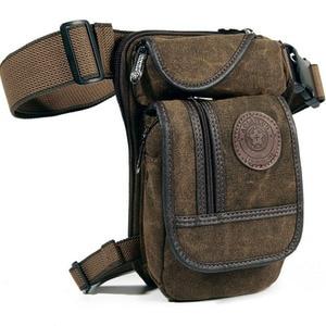 Image 1 - Mens Canvas Retro Drop Leg Bag Waist Fanny Pack Thigh Hip Bum Belt Military Hiking Motorcycle Cross Body Messenger Shoulder Bag