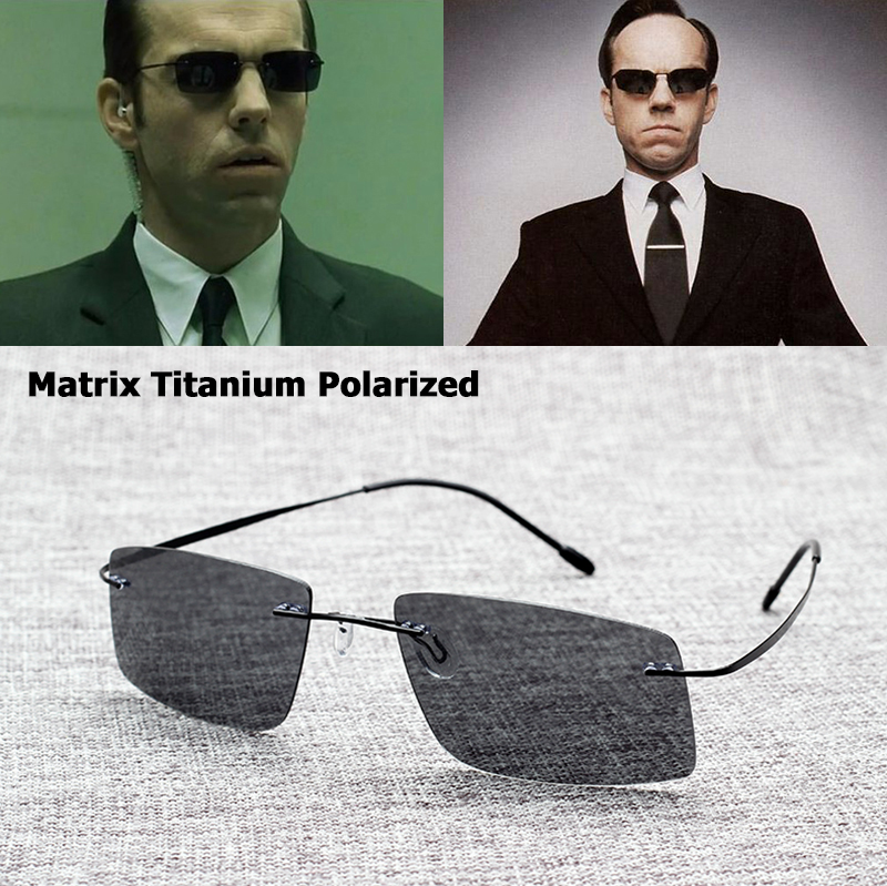 JackJad New 2017 The Matrix Style Polarized Driving Heren Zonnebril Merk Design Titanium Memory Frame Zonnebril Oculos De Sol